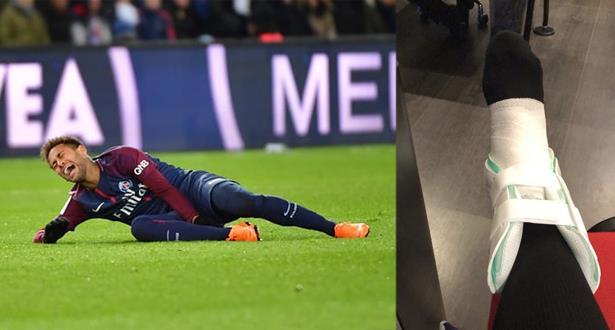 باريس سان جيرمان يكشف المدة التي سيغيب فيها نيمار بسبب الاصابة