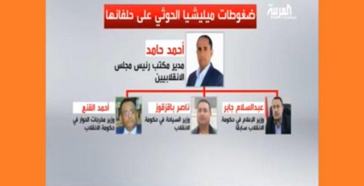 خلافات داخلية تعصف بحكومة الانقلاب في صنعاء.. تفاصيل