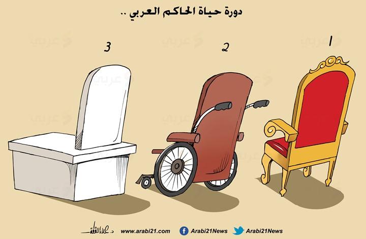 كاريكاتير.. دورة حياة الحاكم العربي..