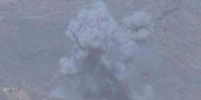 مقاتلات التحالف العربي تشن غارات على تعزيزات لمليشيا الحوثي في جبهة نهم