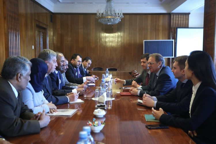 During  meeting with  delegation of leadership of Transitional Council.. Bogdanov confirms his government support for Yemen Unity