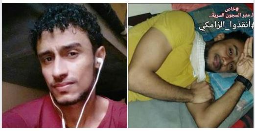 """المعتقل محمد الزامكي في سجن بير احمد يصاب بالشلل النصفي """"تفاصيل"""""""