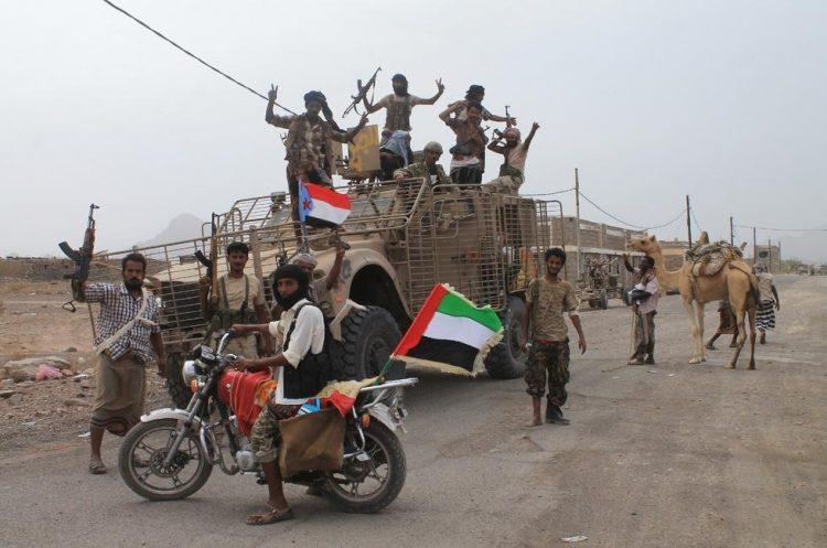 وصول تعزيزات تابعة للمجلس الإنتقالي المدعوم إماراتيا محافظة شبوة قادمة من عدن