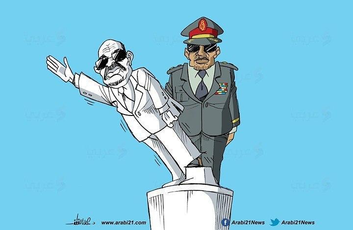 كاريكاتير .. الجيش السوداني يقتلع عمر البشير