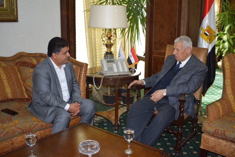 الشيخ العيسي يلتقي رئيس هيئة الإعلام المصري ويثمن دعم مصر للشرعية