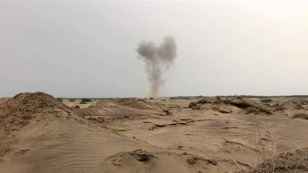 الجيش الوطني يسقط طائرة من دون طيار تابعة للمليشيا في صعدة