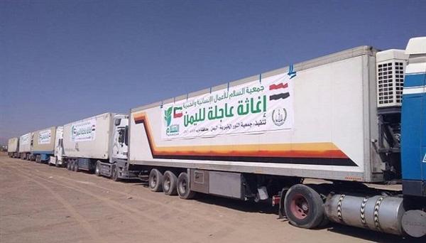 مليشيا الحوثي تواصل احتجاز 210 شاحنة إغاثية والحكومة تدعو الأمم المتحدة للتدخل