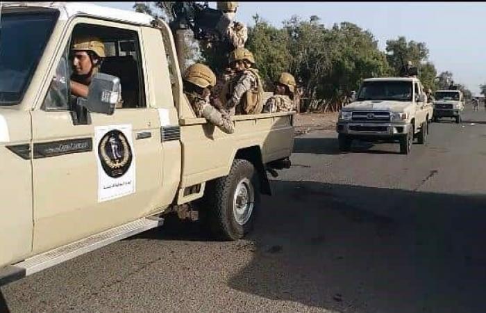 الوية الحماية الرئاسية تدفع بتعزيزات عسكرية إلى الضالع لتعزيز جبهات القتال ضد المليشيات