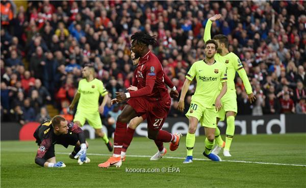 ليفربول يحقق ريمونتادا تاريخية ضد برشلونة ويتأهل إلى نهائي دوري ابطال اوروبا