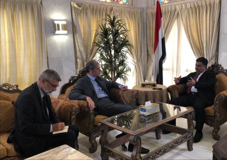 """رئيس الائتلاف الوطني الجنوبي الشيخ """"العيسي"""" يلتقي سفير فرنسا لدى اليمن"""