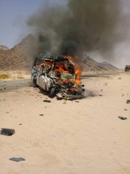 وفاة تسعة اشخاص في حادث مروري مروع بشبوة