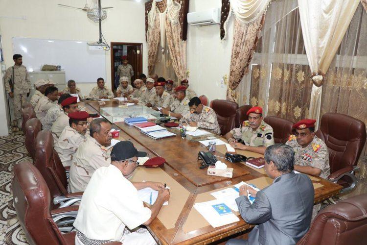 محافظ حضرموت يرأس اجتماعاً لقادة الوحدات العسكرية بالمنطقة العسكرية الثانية