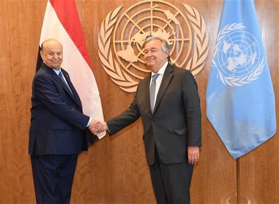 الكشف عن لقاء مرتقب بين الشرعية والأمم المتحدة لمراجعة أداء غريفيث