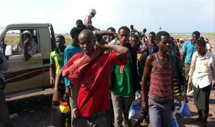الأمم المتحدة تجلي 125 صومالي من اليمن عبر ميناء عدن