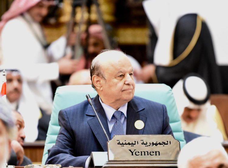 رئيس الجمهورية: اليمن يخوض معركة شرسة ضد مليشيا الحوثي التي انشأها النظام الإيراني