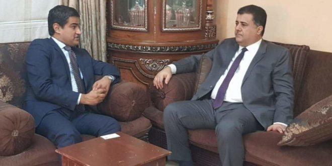 """رئيس الائتلاف الوطني الجنوبي """"العيسي"""" يلتقي القائم بأعمال سفير الولايات المتحدة الأمريكية لدى اليمن"""