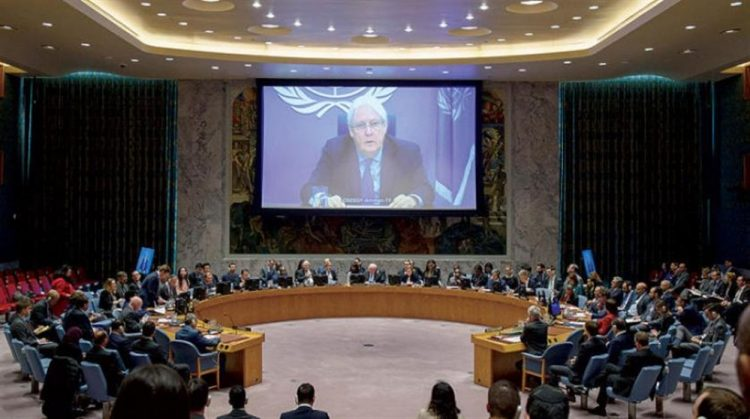 جلسة لمجلس الأمن للإستماع لإحاطة غريفيث حول اتفاق السويد وإعادة الإنتشار في الحديدة