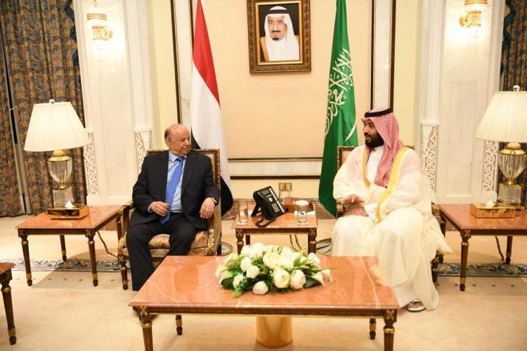 تفاصيل لقاء الرئيس هادي مع الامير محمد بن سلمان في مكة المكرمة