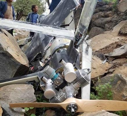 سقوط طائرة مسيرة في عمران بعد فشل مليشيا الحوثي في إطلاقها