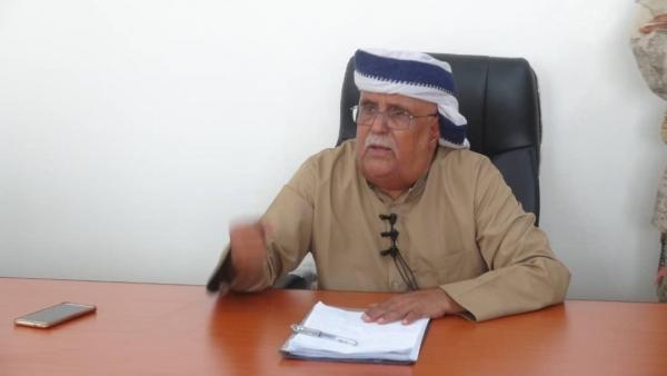 """رئيس """"الهيئة الشعبية"""" بشبوة: ما حدث في عدن انقلاب، والانتقالي جند عناصر من القاعدة"""