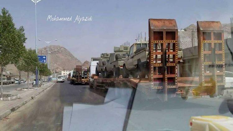 آليات عسكرية سعودية تصل مأرب لتعزيز مواجهة الحوثيين