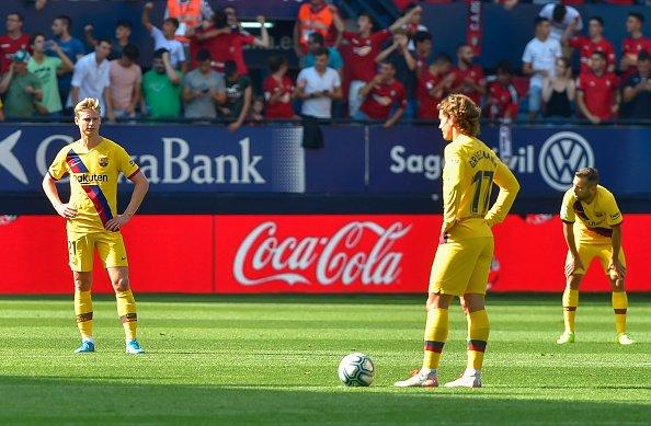 نتيجة سلبية جديدة لبرشلونة امام اوساسونا في الدوري الاسباني