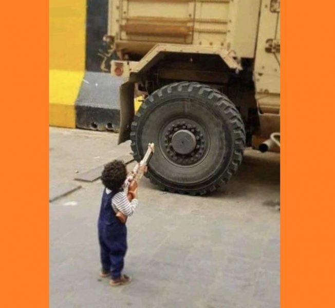 """شاهد.. طفل يمني للإمارات: """"ستخرجون أذلة صاغرين"""""""