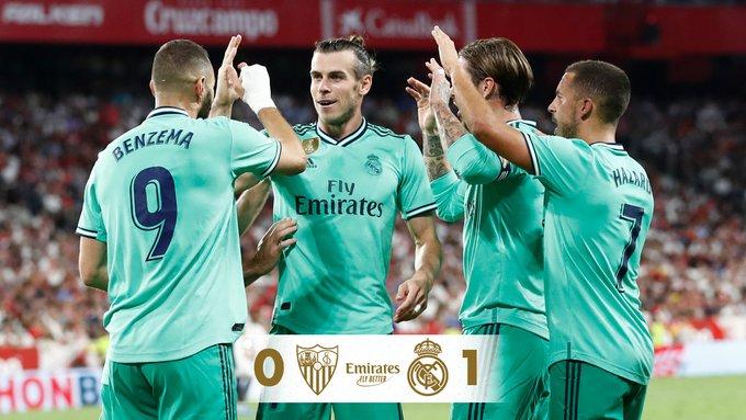 ريال مدريد يفوز على اشبيلية ويتقاسم صدارة الدوري الاسباني مع بيلباو