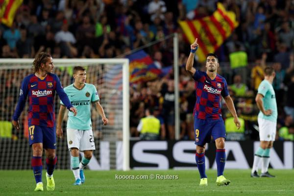 برشلونة يعود بالنتيجة ويهزم الانتر في دوري ابطال اوروبا