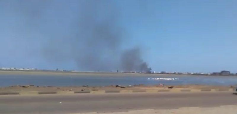 هام.. مصدر يكشف أسباب تصاعد أعمدة الدخان من مطار عدن الدولي