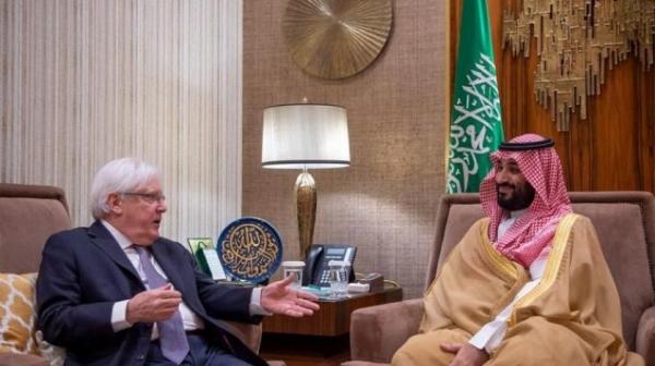 لقاء بين غريفيث وبن سلمان لبحث المستجدات على الساحة اليمنية