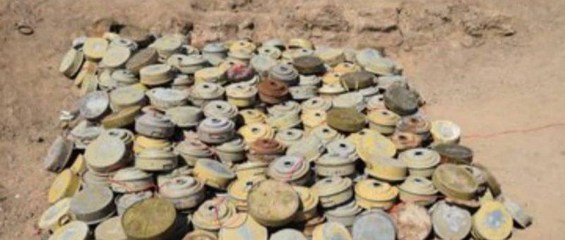 فرق الجيش الهندسية تفكك شبكة ألغام حوثية في محافظة الجوف