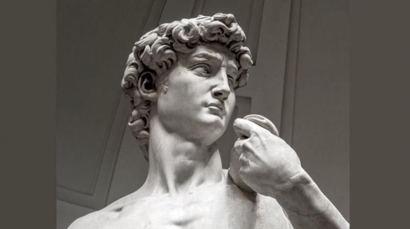 كشف سر انتفاخ وريد برقبة تمثال لمايكل أنجلو