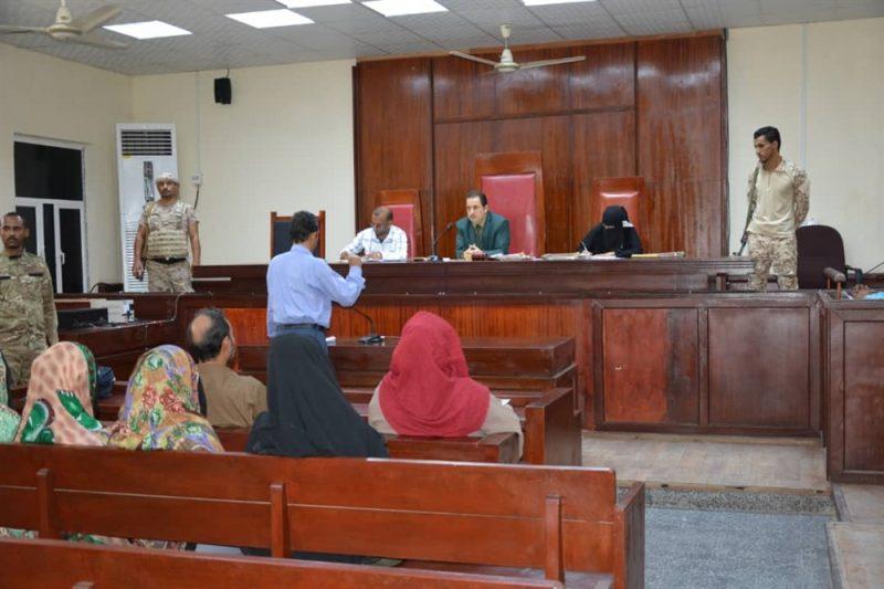 المحكمة الجزائية في عدن تصدر أحكام إعدام وسجن بحق 6 متهمين بقضايا إرهابية وقتل