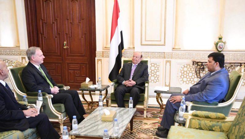 تفاصيل لقاء جديد بين الرئيس هادي والسفير الامريكي لدى اليمن