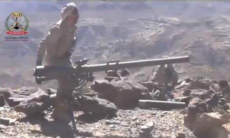 شاهد فيديو لجانب من المعارك التي يخوضها ابطال الجيش الوطني ضد المليشيات الارهابية في نهم