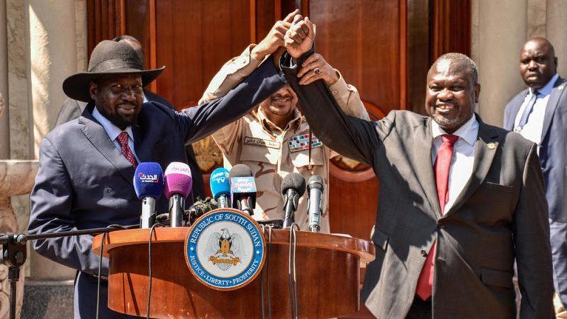زعيم المعارضة ورئيس جنوب السودان يتفقان على تشكيل حكومة جديدة