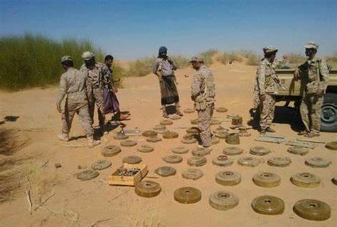 اتلاف مئات الالغام الحوثية في حجة