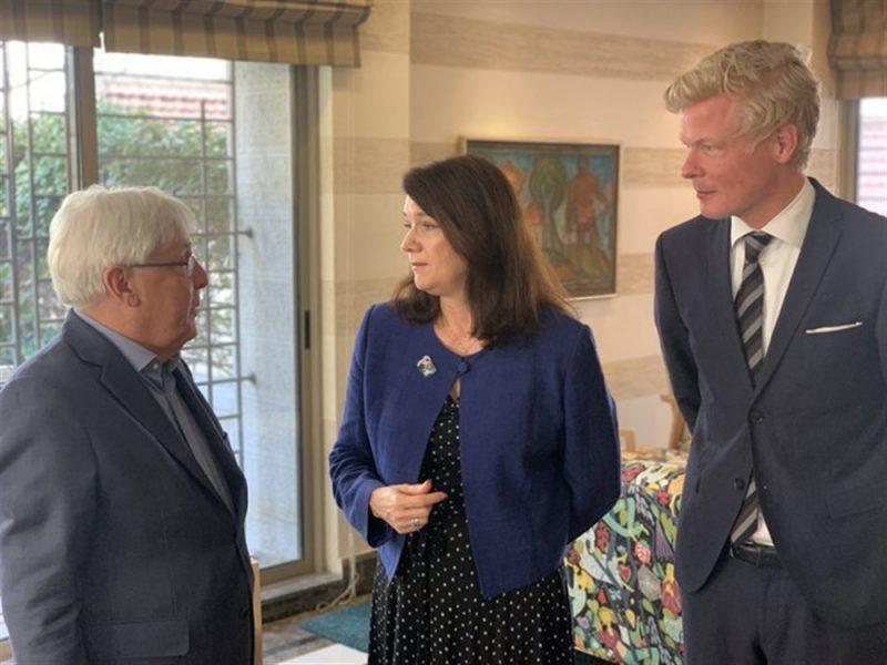 السويد تبحث مع غريفيث خطوات استئناف العملية السياسية في اليمن