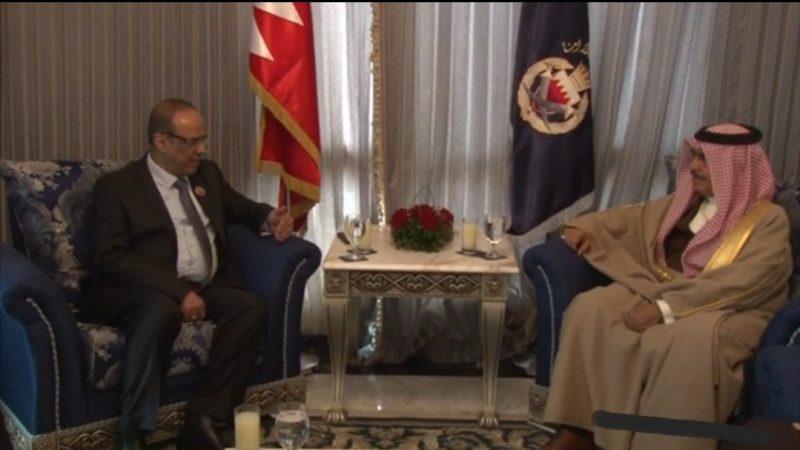 """نائب رئيس الوزراء وزير الداخلية """"الميسري"""" يلتقي وزير الداخلية البحريني"""