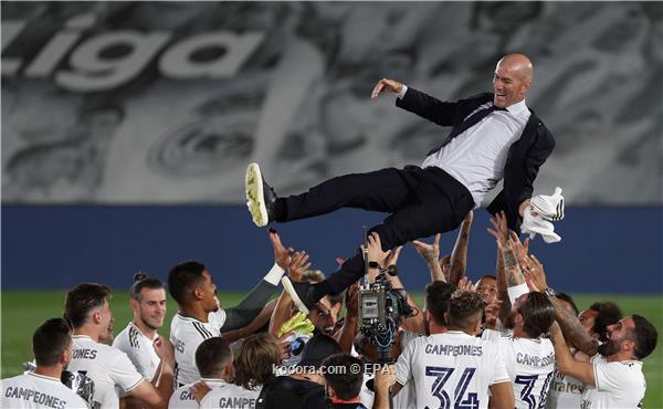 ريال مدريد بطل الدوري الاسباني للمرة الرابعة والثلاثين في تاريخه
