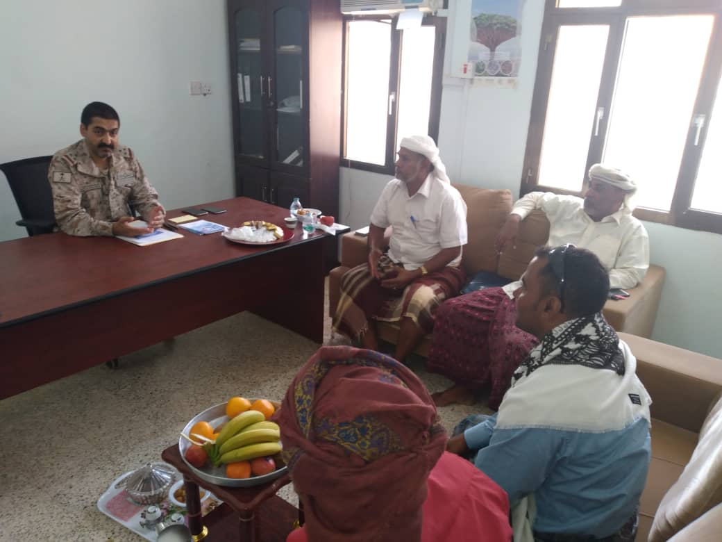 SNA leadership in Socotra meets the commander of Saudi duty forces
