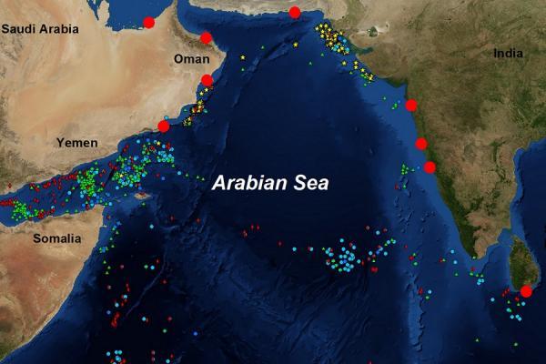 زلزال بقوة 4.4 يضرب غرب بحر العرب إلى الشرق من سواحل سقطرى
