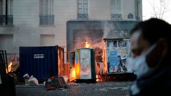 إندلاع مواجهات عنيفة بين قوات الشرطة ومحتجين في العاصمة الفرنسية باريس