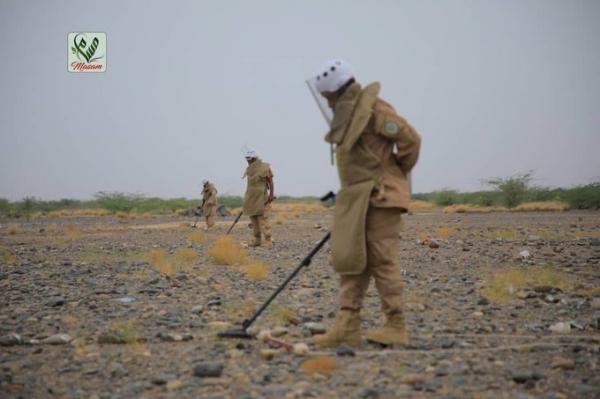 مسام ينزع أكثر من 2600 لغم وذخيرة غير منفجرة خلال الأسبوع الأول من مايو الجاري