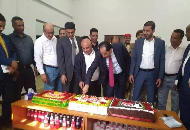 وزير الشباب والرياضة نايف البكري يفتتح المقر الجديد للوزارة بعدن