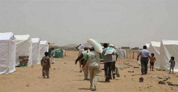 منظمة حقوقية تؤكد تعرض النازحين بمأرب لخطر شديد بسبب هجمات الحوثيين