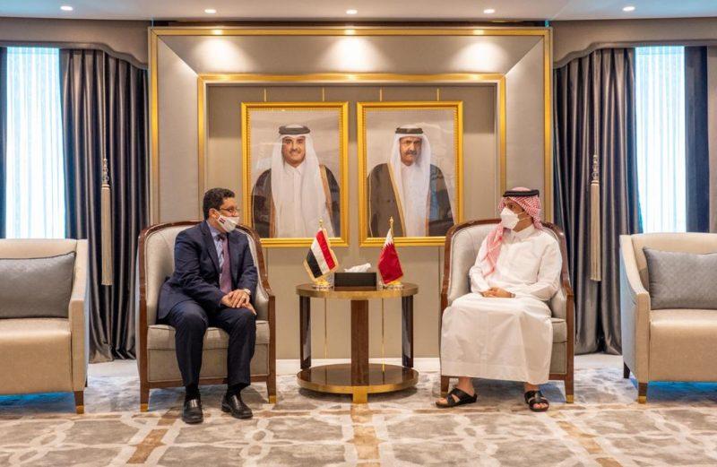 بهدف تنسيق المواقف إزاء التطورات على الساحة الإقليمية والدولية.. عودة العلاقات الدبلوماسية بين اليمن وقطر