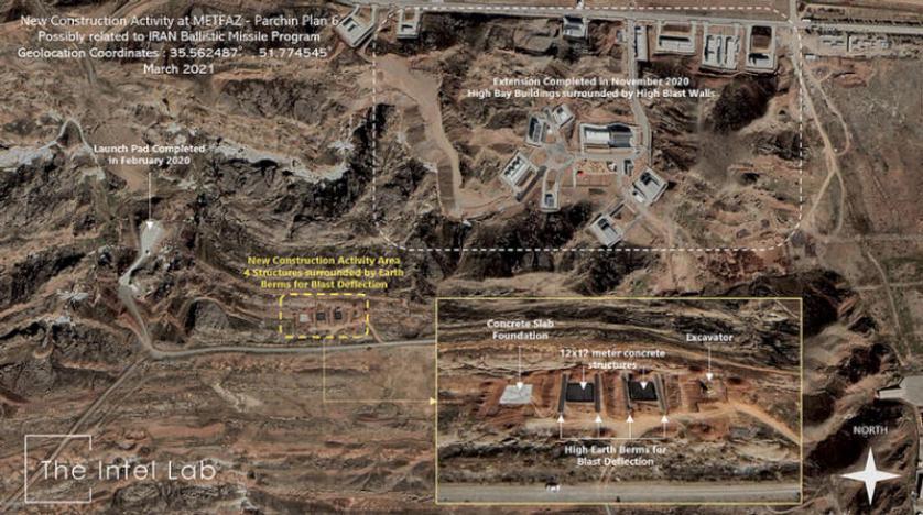 كشفتها صور الأقمار الصناعية.. إيران توسع منشأة بارشين العسكرية