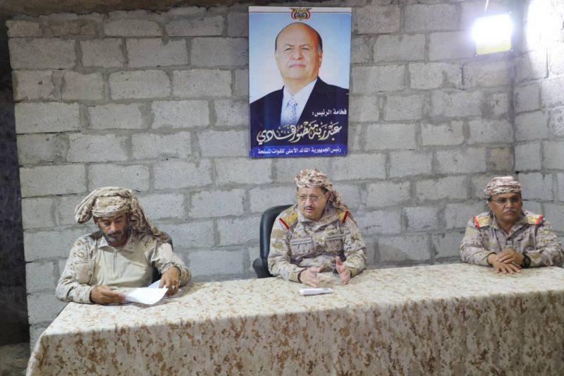 إجتماع عسكري لقيادة وزارة الدفاع يؤكد العزم على استكمال تحرير اليمن